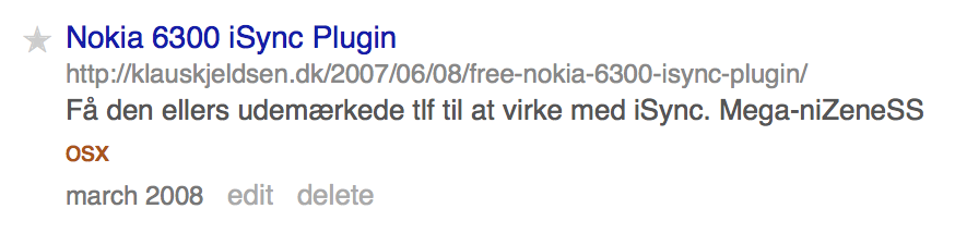 iSync og Nokia: Andre tider